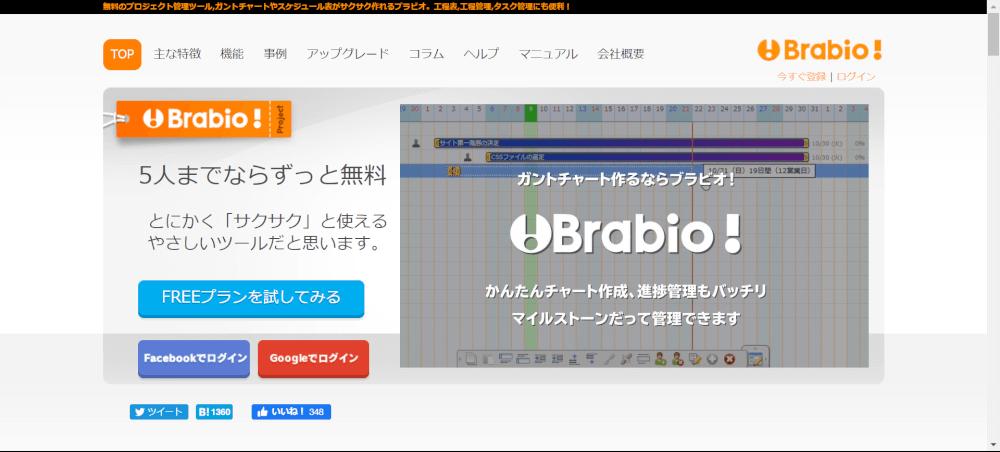 Brabio! プロジェクト管理ツール